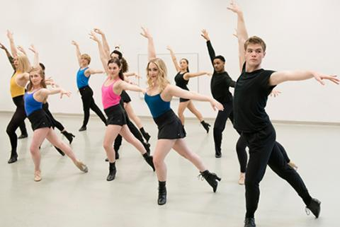 Students in a dance formation