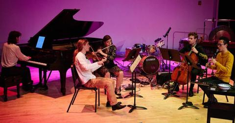 Boston Conservatory's contemporary classical music ensemble, contraBAND, performs a concert of works by avant-garde women composers.